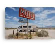 Desserted desert motel Metal Print