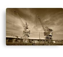 Cockatoo Dock Crane Twins Canvas Print