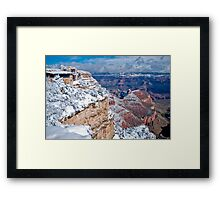 Snowfall View of The Grand Canyon National Park (Arizona, USA) Framed Print