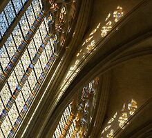 Glorious Light - Sainte-Chapelle de Vincennes, Château de Vincennes, Paris, France by Georgia Mizuleva
