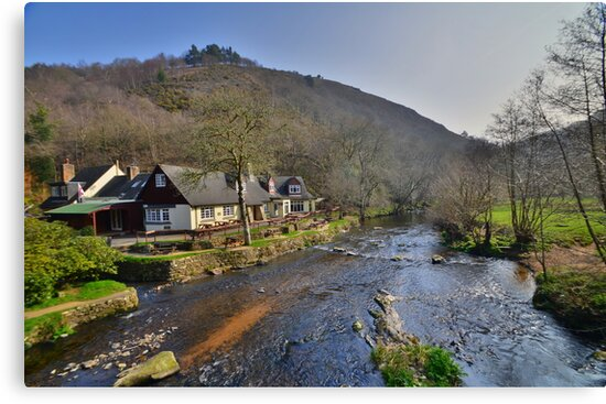 Dartmoor: The Angler's Rest at Fingle Rest by Rob Parsons