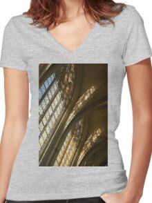 Glorious Light - Sainte-Chapelle de Vincennes, Château de Vincennes, Paris, France Women's Fitted V-Neck T-Shirt