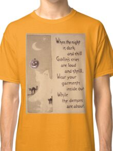 The Ghost & The Pumpkin (Vintage Halloween Card) Classic T-Shirt