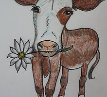 'moo flower' art by Sarah Parsons by SarahParsonsArt