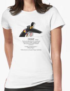Derp Womens Fitted T-Shirt