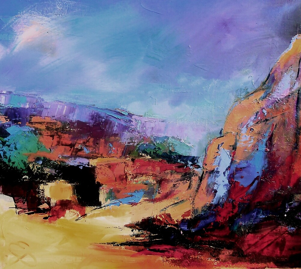 Evening light over the Canyon by Elise Palmigiani