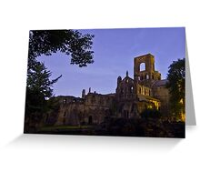Kirkstall Abbey 4189-A Cistercian monastery Leeds West Yorkshire Greeting Card