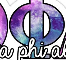 Theta Phi Alpha Galaxy Letters Sticker