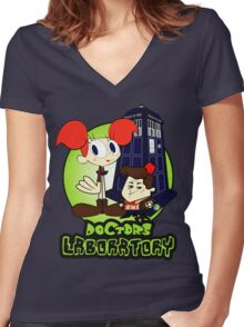 Doctor's Laboratory Women's Fitted V-Neck T-Shirt
