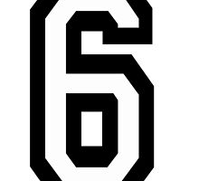 6, TEAM SPORTS, NUMBER 6, SIX, SIXTH, Competition by TOM HILL - Designer