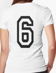 6, TEAM SPORTS, NUMBER 6, SIX, SIXTH, Competition T-Shirt