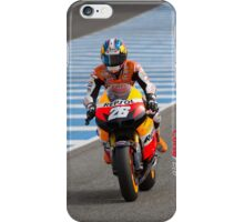Dani Pedrosa in Jerez 2012 iPhone Case/Skin