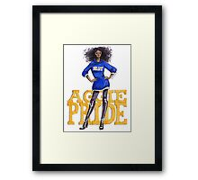 A&T Diva Framed Print