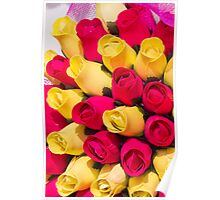 bouquet of handmade roses Poster