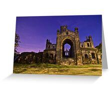 Kirkstall Abbey Cistercian monastery Leeds West Yorkshire Night Greeting Card