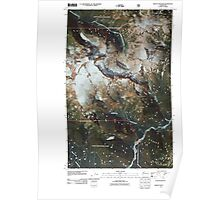 USGS Topo Map Washington State WA Mount Shuksan 20110425 TM Poster