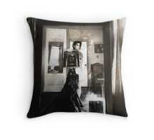 Mirror between two windows Throw Pillow