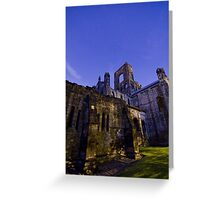 Kirkstall Abbey 4258-A Cistercian monastery Leeds West Yorkshire Night After   Dark Photography Greeting Card
