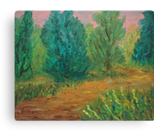 Oil Painting - While Hiking. 2012 Canvas Print