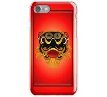 Black 'n Gold Chinese Dragon Face iPhone Case/Skin