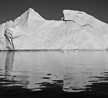 Greenland in mono by Derek  Rogers