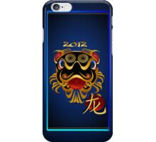 2012 Black 'n Gold Chinese Dragon Face  iPhone Case/Skin