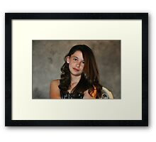 """"""" Perfect Little Lady """" Framed Print"""