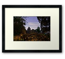Kirkstall Abbey 4262-A Cistercian monastery Leeds West Yorkshire Night After   Dark Photography Framed Print
