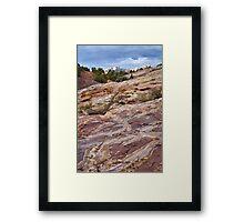 Sandstone Patterns at Split Mountain 2 Framed Print