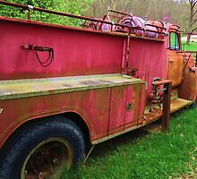 Old Fire engine Silver Grove, Ky. by Ron Russell