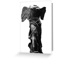 Nike the winged goddess of victory Greeting Card