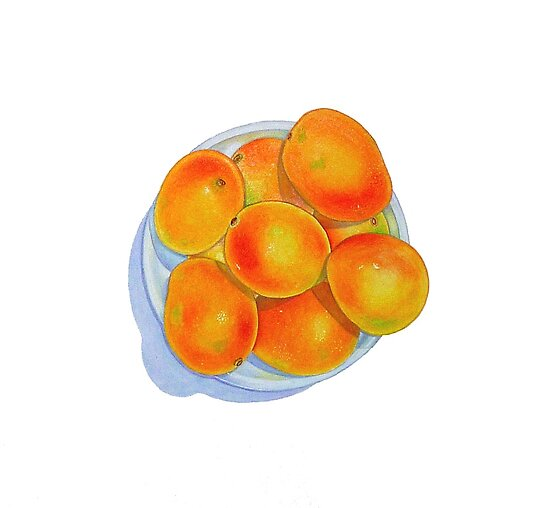 Bowl of Mangoes by joeyartist