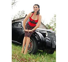 A new dress and ready to ride Photographic Print