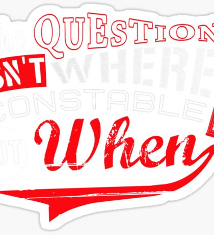 The question isn't where, but when ! Sticker