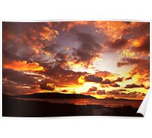 A rather stunning sunrise Poster