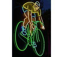 Neon Rider Photographic Print
