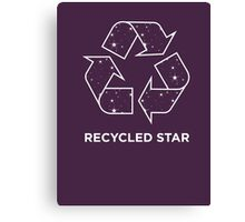 Recycled Star Canvas Print
