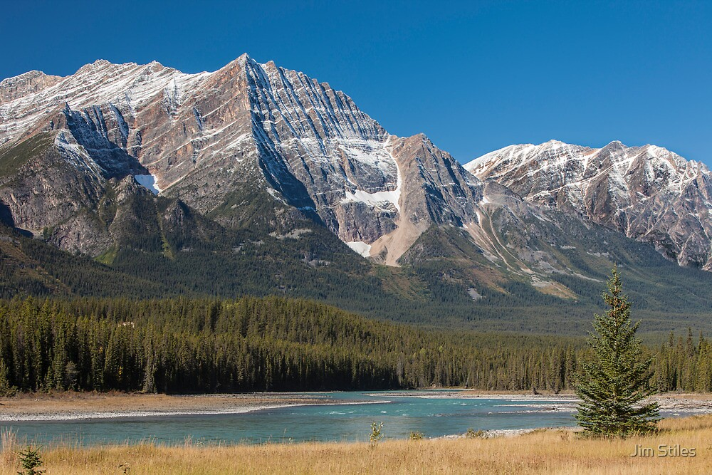 Mount Kirkeslin and the Athabasca River by Jim Stiles