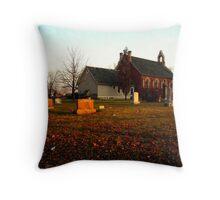 Old Zion  Church in Autumn Throw Pillow