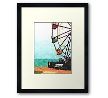 Vintage Ferris Wheel  Framed Print