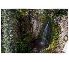 Trujillo Meadow Reservoir Waterfall - Colorado Poster