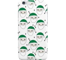 Santa - Green and White by Andrea Lauren  iPhone Case/Skin