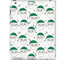Santa - Green and White by Andrea Lauren  iPad Case/Skin