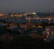 Nightshot of Bunbury harbour by Adrian Kent