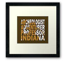 Indy Framed Print