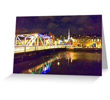 Moonlit night on Merchant´s Quay 002 Greeting Card