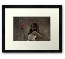 """ Take a Swing Against Breast Cancer "" Framed Print"