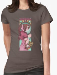 Ancient Flower Girl Womens Fitted T-Shirt