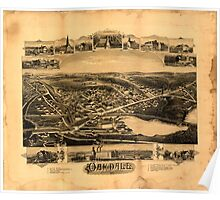 Panoramic Maps Oakdale Massachusetts Poster