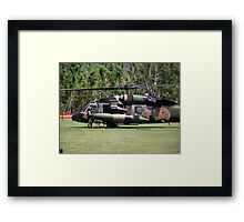 Helicopter Prince Williams Visit to Cardwell, North Queensland, Australia 2012 Framed Print